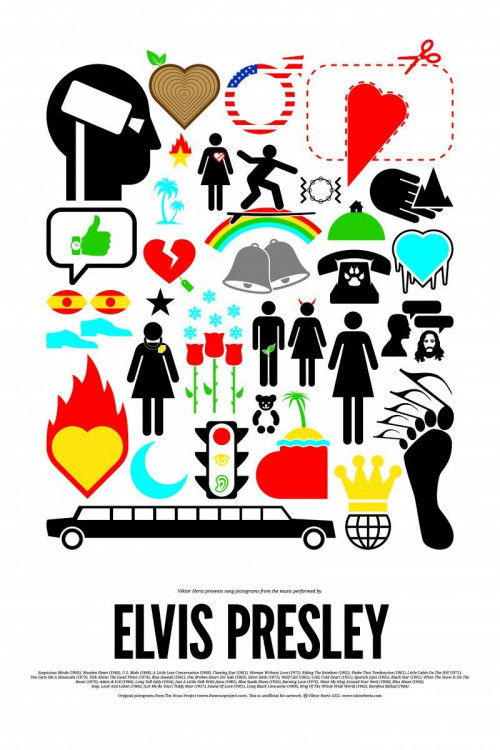 Elvis Presley Icon Poster