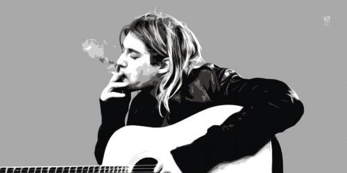 Kurt Cobain With Acoustic Guitar