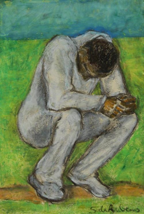 Crouching Player